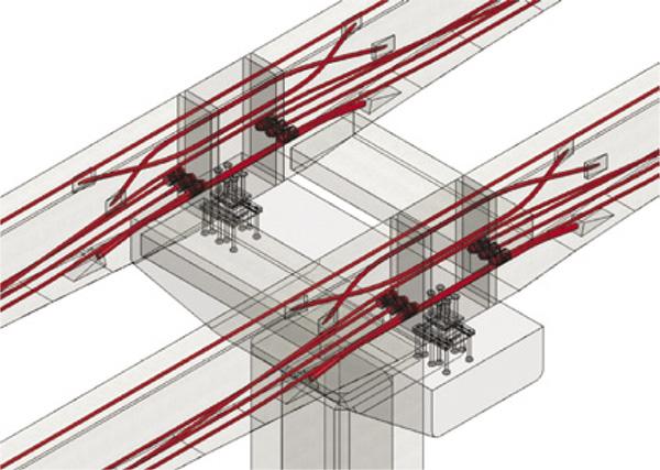 รูปแบบการประยุกต์ใช้หลักการของ Pier Segmentและ Prestressed Technique เพื่อเชื่อมต่อคานเข้าหากัน