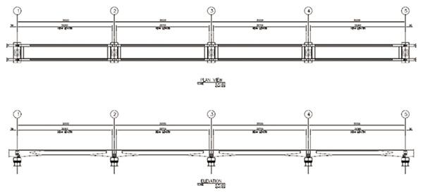 รูปแบบ Typical Structure Continuous Beam of Guideway Beam for PK Line andYL Line