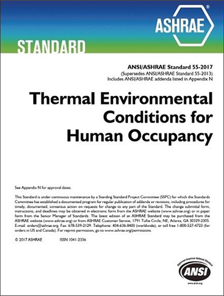 ANSI/ASHRAE Standard 55-2017 Thermal Environmental Conditions for Human Occupancy