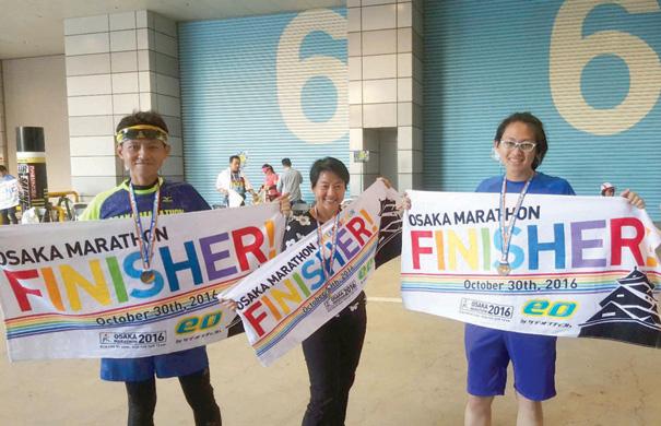 จบ Osaka Marathon กับครอบครัว