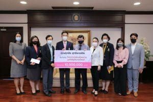 นิสิตเก่าวิศวจุฬาฯ มอบเงินเพื่อสนับสนุนการวิจัยวัคซีนเพื่อคนไทย