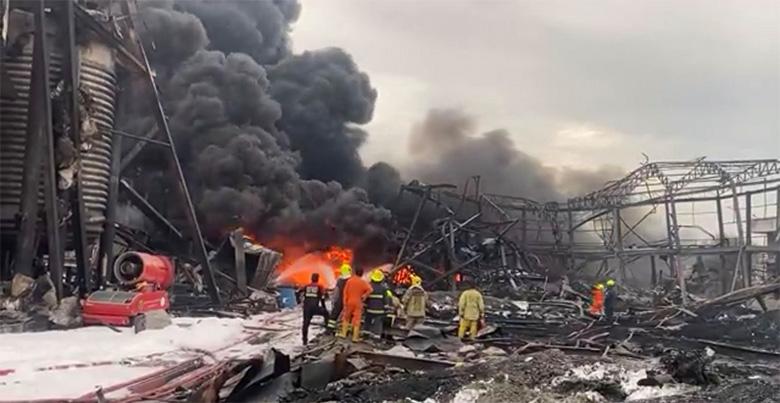 การระเบิดและเพลิงลุกไหม้รุนแรงที่โรงงานผลิตเม็ดโฟมพลาสติกของบริษัทหมิงตี้ เคมิคอล จำกัด